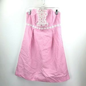 Lilly Pulitzer Pink Strapless Dress Size 10